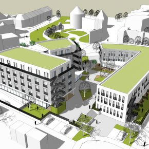 Gesundheitszentrum Andernach Blick an die Stadtmauer