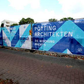 Baustellen Plakat Pötting Architekten