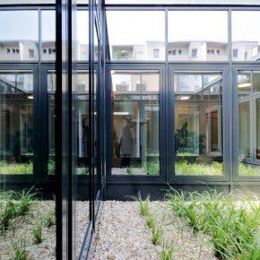 Atrium Innenhof Rigaer Straße Ärztehaus
