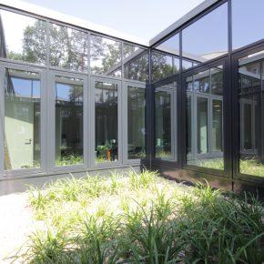 Pfostenriegel Atrium außen